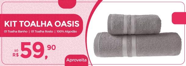 Kit 1 Toalha Banho + 1 Toalha Rosto Alta Qualidade Toque Extra Macio Oási