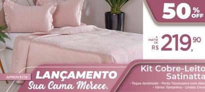 Kit Colcha Casal Cetim / Toque De Pessego 3 Peças Satinatto