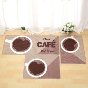 1 Tapete 40Xm X 60Cm De Cozinha Antiderrapante Colori Mais Café - Bene Casa