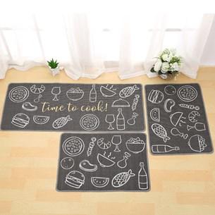 1 Tapete 40Xm X 60Cm De Cozinha Antiderrapante Colori Time To Cook - Bene Casa