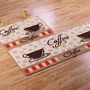 1 Tapete Passadeira 40Cm X 1,20M De Cozinha Antiderrapante Colori Coffee - Bene Casa