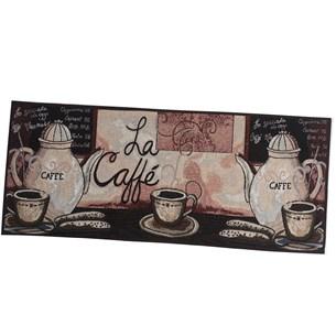 1 Tapete Passadeira 45Cm X 1,15M De Cozinha Jacquard Antiderrapante La Caffe - Tessi