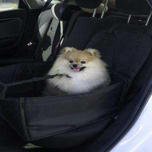 Assento Cadeirinha Pet Matelassado 45Cm X 45Cm X 55Cm Seguro Dobrável Fácil De Guardar E Transportar