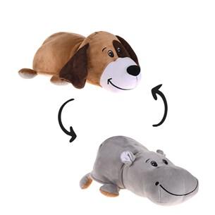 Bichinho De Pelúcia   Flip 2 Em 1 Cão/Hipopotamo - Bene Casa