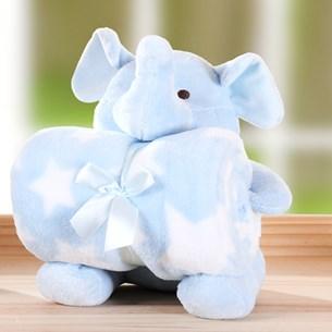 Bichinho + Manta Bebê   Perfeito Para Chá De Bebê Elefantinho - Bene Casa