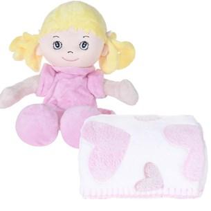 Bichinho + Manta Bebê Super Fofinhos   Ideal Para Presente Rosa - Bene Casa
