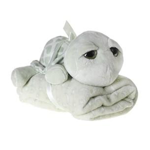 Bichinho + Manta Bebê Super Fofinhos   Ideal Para Presente Tartaruga - Bene Casa