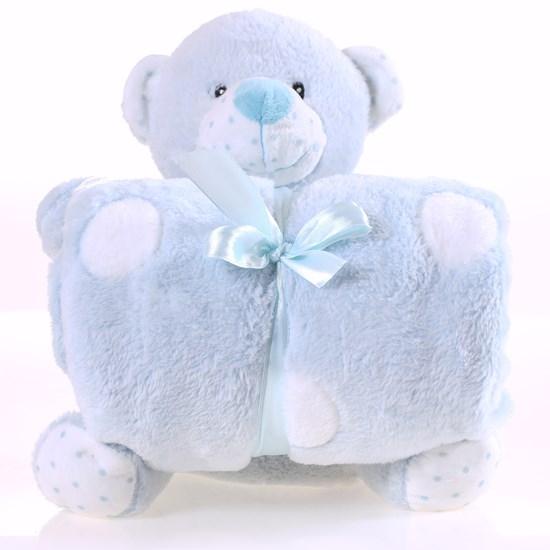 Bichinho + Manta Bebê Super Fofinhos   Ideal Para Presentes Urso - Bene Casa