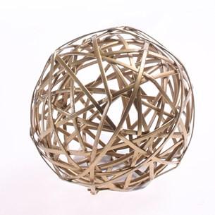 Bola Decorativa Pequena   Antique Gold - Tessi