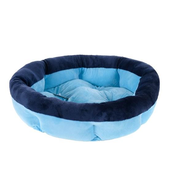 Cama Pat Para Cães E Gatos 50Cm Soft Azul - Meu Pet