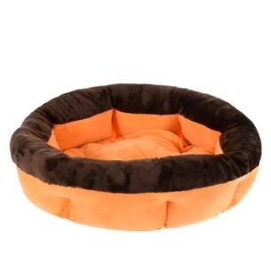 Cama Pat Para Cães E Gatos 50Cm Soft Laranja - Meu Pet