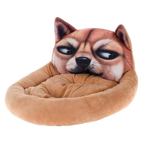 Cama Pet Para Cachorros E Gatos 50Cm X 40Cm   Cachorro Marrom - Meu Pet