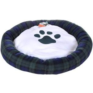 Cama Pet Para Cachorros E Gatos Redonda 55Cm X 55Cm Azul - Meu Pet