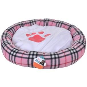Cama Pet Para Cachorros E Gatos Redonda 55Cm X 55Cm Rosa - Meu Pet