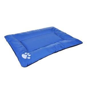 Caminha Para Cachorro E Gato 60Cm X 46Cm X 5Cm Toque Peluciado Azul - Meu Pet
