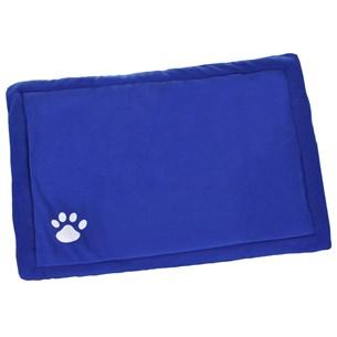 Caminha Para Cachorro E Gato 75Cm X 50Cm  Suede Extra Macia Azul - Meu Pet