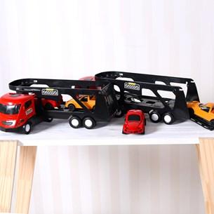 Caminhão Cegonha + 2 Carrinhos Sortido - Bene Casa