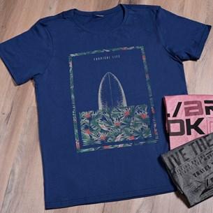 Camiseta Malha 100% Algodão G   Tropical Life - Due