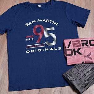 Camiseta Malha 100% Algodão Gg   San Martin - Due