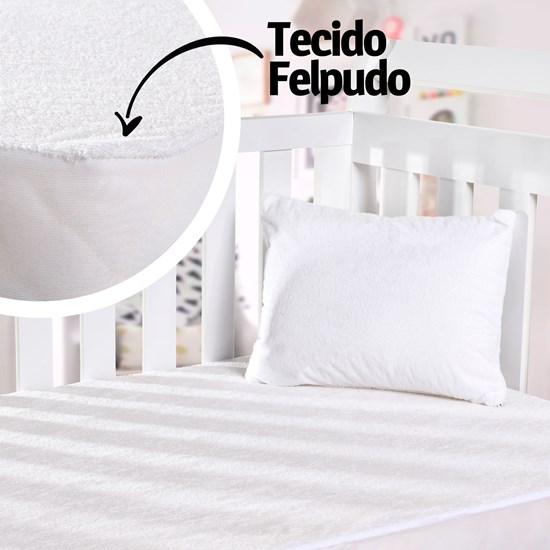 Capa Protetora De Colchão Berço Impermeável Branco - Bene Casa