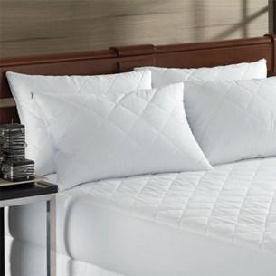 Capa Protetora De Colchão Travesseiro Impermeável Malha Em Gel  Branco - Bene Casa