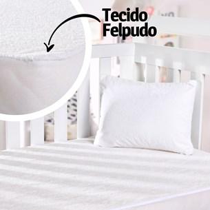 Capa Protetora De Travesseiro Bebê 30Cm X 40Cm Impermeável Branco - Bene Casa