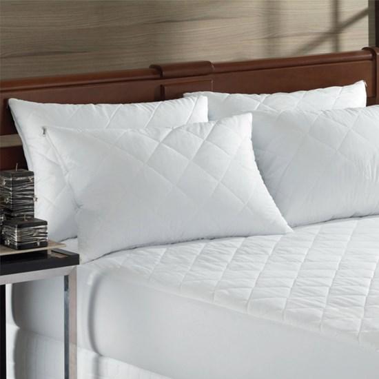 Capa Protetora De Travesseiro Travesseiro Impermeável Matelasse Branco - Bene Casa