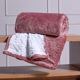 Cobertor Casal Sherpa Toque Lã De Carneiro Dupla Face 360G/M² Cassis - Tessi