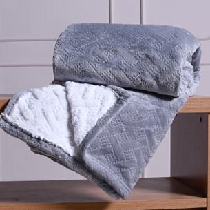 Cobertor Casal Sherpa Toque Lã De Carneiro Dupla Face 360G/M² Granizo - Tessi