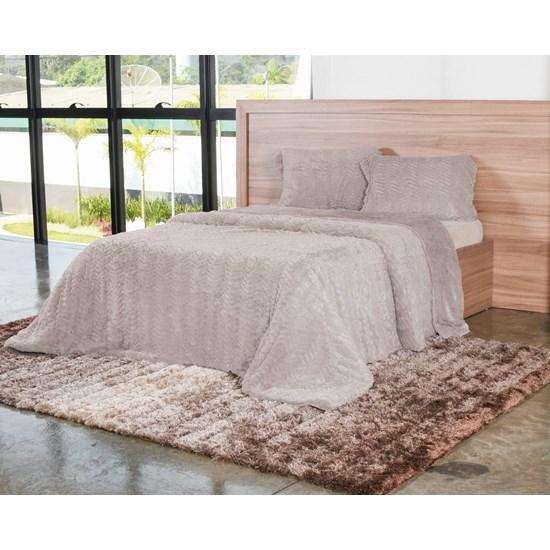 Cobertor Casal Slim Peles Com Porta Travesseiro Fendi - Tessi