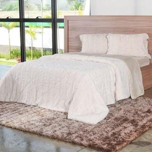 Cobertor Casal Slim Peles Com Porta Travesseiro Pluma - Tessi