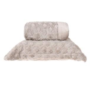 Cobertor King Slim Peles Dupla Face Com Porta Travesseiro Lenha - Tessi