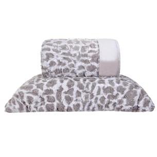 Cobertor King Slim Peles Dupla Face Com Porta Travesseiro Native - Tessi