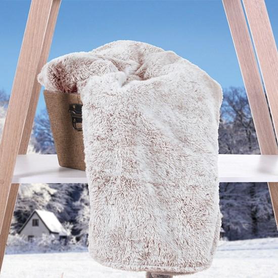 Cobertor Manta   Toque De Pele De Coelho Cascalho - Tessi