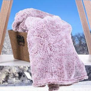 Cobertor Manta   Toque De Pele De Coelho Rouge - Tessi