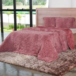 Cobertor Queen Slim Peles Com Porta Travesseiro Cameo - Tessi