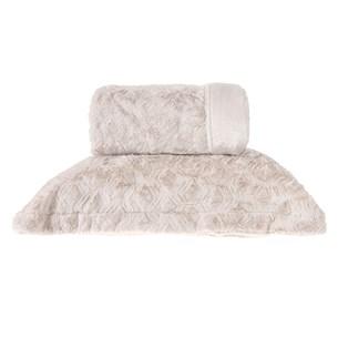Cobertor Queen Slim Peles Dupla Face Com Porta Travesseiro Luna - Tessi