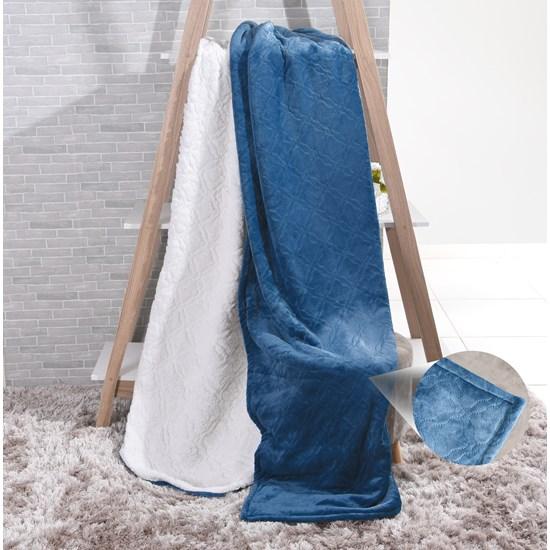 Cobertor Sherpa Solteiro Pele De Carneiro E Toque Flannel Veleiro - Tessi