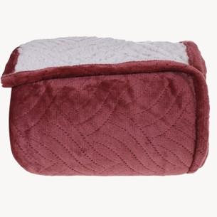 Cobertor Sherpa Solteiro Pele De Carneiro Matelassado Extra Quentinho Marsala - Tessi