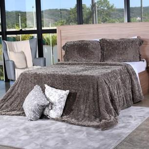 Cobertor Slim Peles King Com Porta Travesseiro  Grime - Tessi