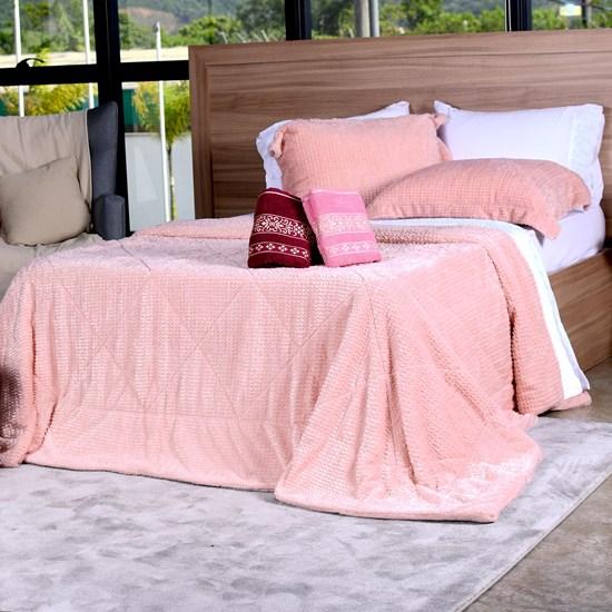 Cobertor Slim Peles Queen Com Porta Travesseiro  Açucena - Tessi