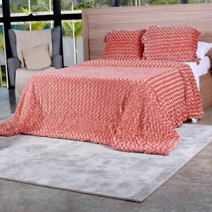 Cobertor Slim Peles Queen Com Porta Travesseiro  Batom - Tessi