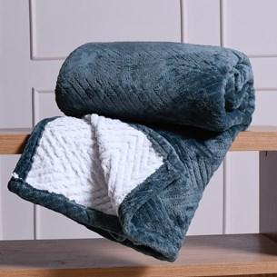 Cobertor Solteiro Sherpa Toque Lã De Carneiro Dupla Face 360G/M² Bálsamo - Tessi