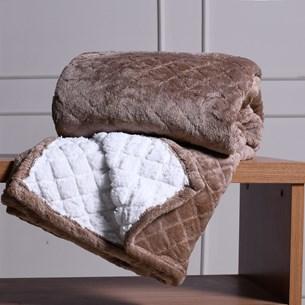 Cobertor Solteiro Sherpa Toque Lã De Carneiro Dupla Face 360G/M² Marrom Shitake - Tessi