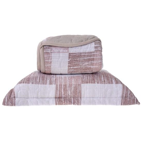 Cobre Leito Em Malha Premium Casal 145 Fios Com Porta Travesseiros Dallas - Tessi