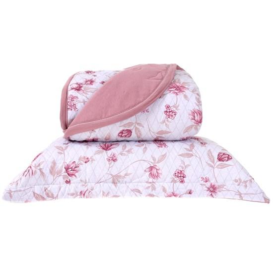 Cobre Leito Em Malha Premium Casal 145 Fios Com Porta Travesseiros Juliana - Tessi