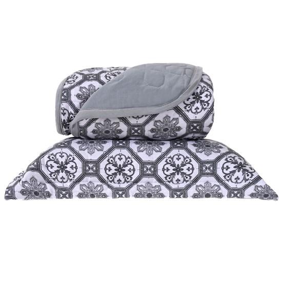 Cobre Leito Em Malha Premium King 145 Fios Com Porta Travesseiros Capadocia - Tessi