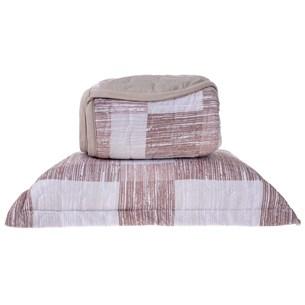 Cobre Leito Em Malha Premium King 145 Fios Com Porta Travesseiros Dallas - Tessi