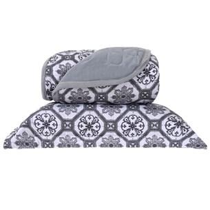 Cobre Leito Em Malha Premium Queen 145 Fios Com Porta Travesseiros Capadocia - Tessi