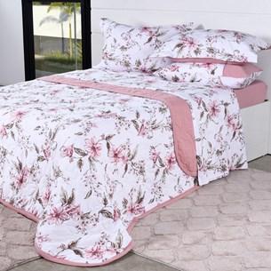 Cobre Leito Em Malha Premium Queen 145 Fios Com Porta Travesseiros Fiori - Tessi
